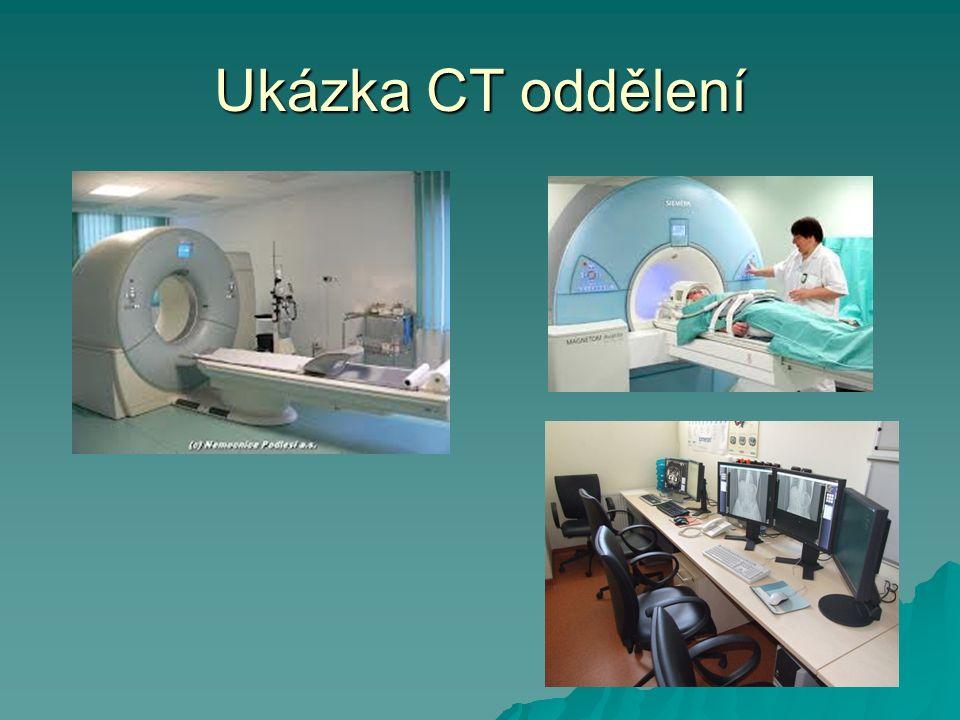 Ukázka CT oddělení