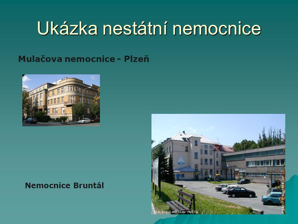 Ukázka nestátní nemocnice Mulačova nemocnice - Plzeň Nemocnice Bruntál