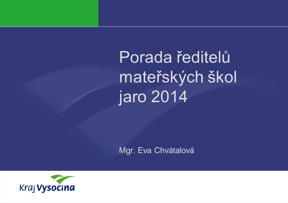 PREZENTUJÍCÍ Porada ředitelů mateřských škol jaro 2014 Mgr. Eva Chvátalová