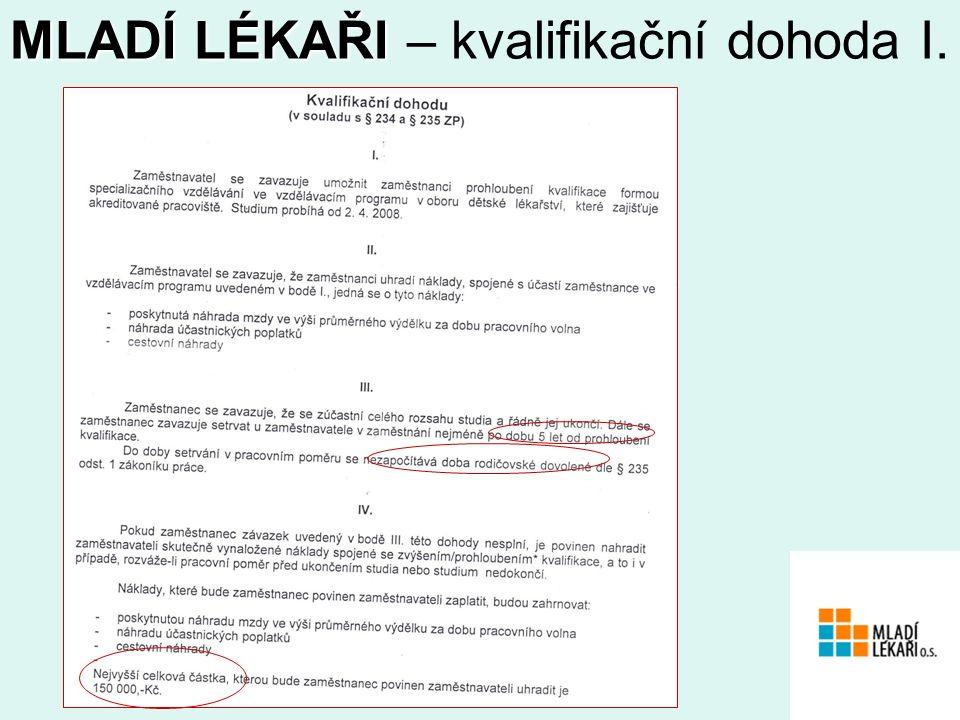 www.mladilekari.com MLADÍ LÉKAŘI MLADÍ LÉKAŘI – kvalifikační dohoda I.