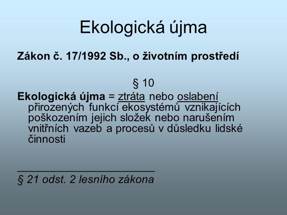 Ekologická újma Zákon č.