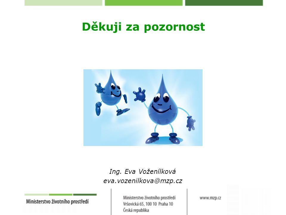Děkuji za pozornost Ing. Eva Voženílková eva.vozenilkova@mzp.cz