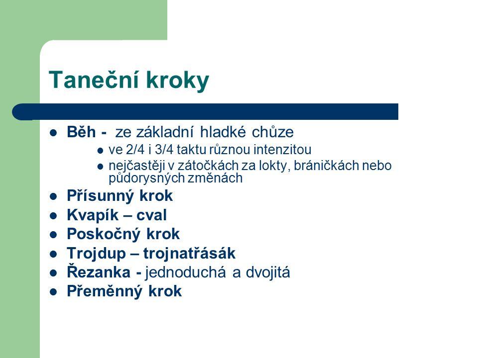 Polka nejznámější národní tanec Polka hladká Polka poskočná Polky vyšlapávané Polky natřásané Polky s dvoutaktovým motivem (dvojpolka)