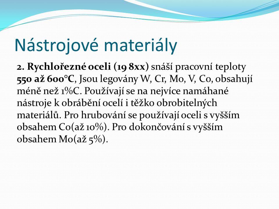 Nástrojové materiály 2.