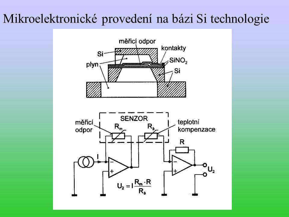 Mikroelektronické provedení na bázi Si technologie