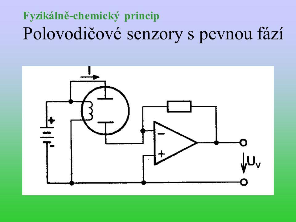 Fyzikálně-chemický princip Polovodičové senzory s pevnou fází
