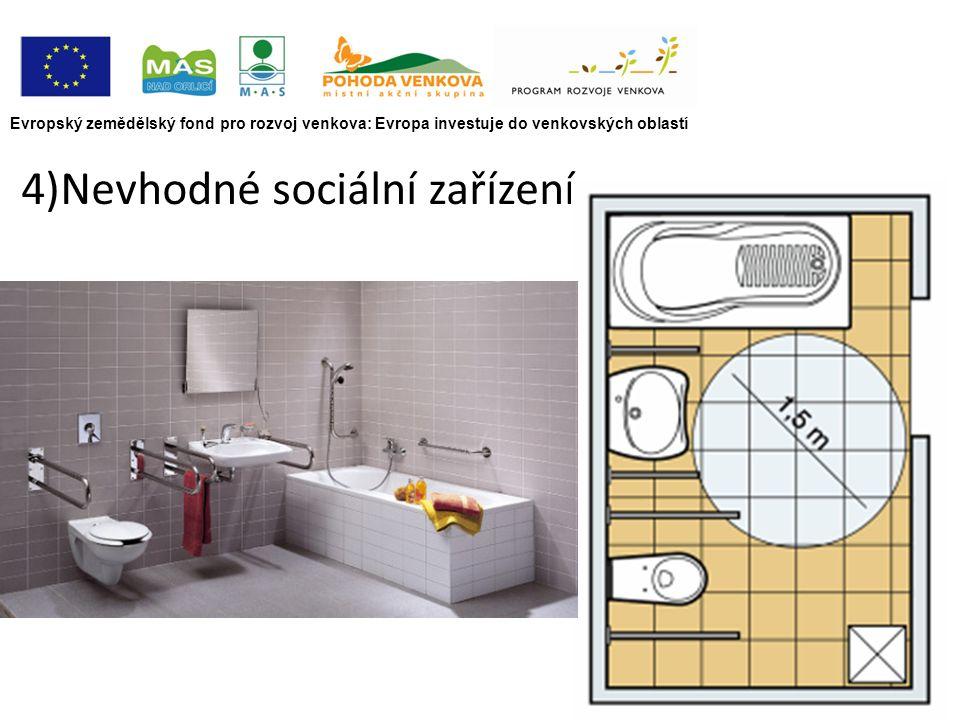 Evropský zemědělský fond pro rozvoj venkova: Evropa investuje do venkovských oblastí 4)Nevhodné sociální zařízení