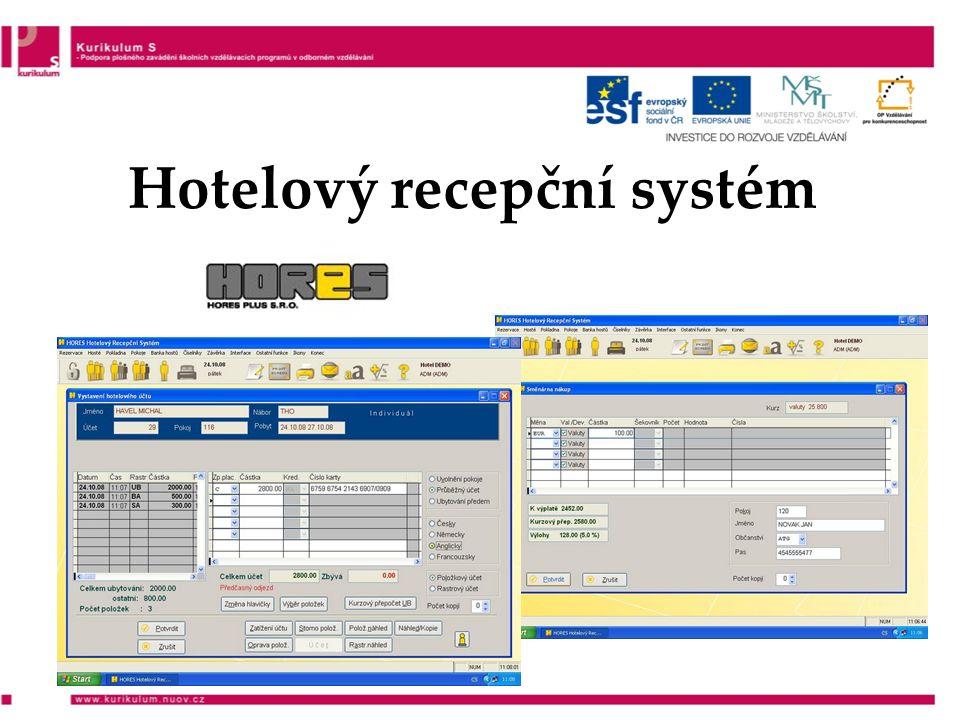 Hotelový recepční systém