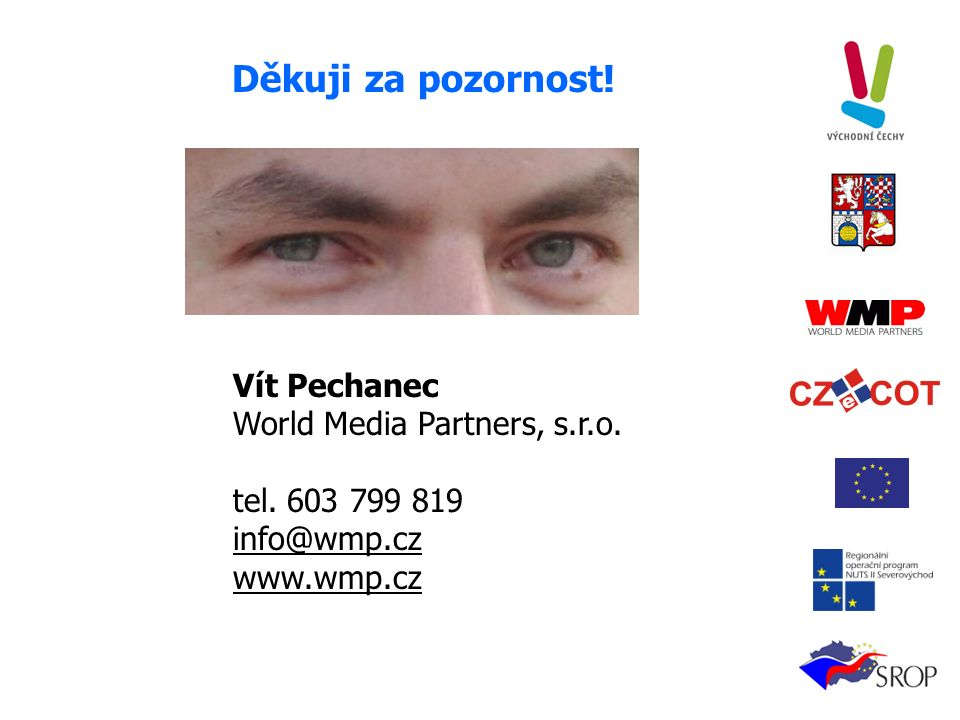Děkuji za pozornost. Vít Pechanec World Media Partners, s.r.o.