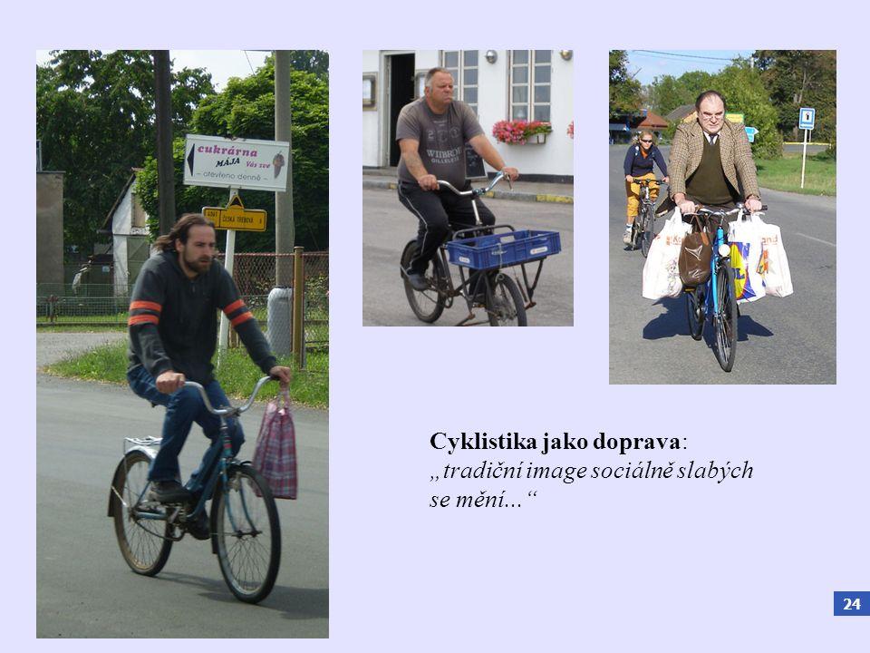 """24 Cyklistika jako doprava: """"tradiční image sociálně slabých se mění..."""