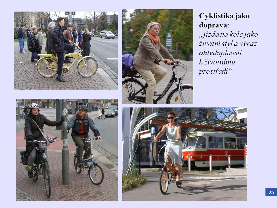 """25 Cyklistika jako doprava: """"jízda na kole jako životní styl a výraz ohleduplnosti k životnímu prostředí"""