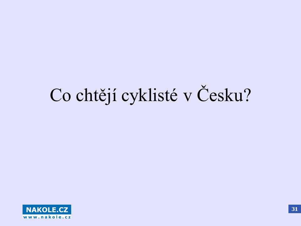 31 Co chtějí cyklisté v Česku?