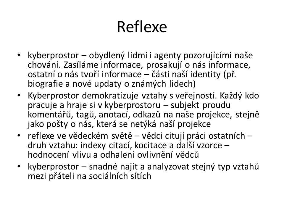 Reflexe kyberprostor – obydlený lidmi i agenty pozorujícími naše chování.