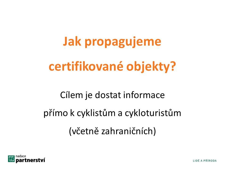 Jak propagujeme certifikované objekty.