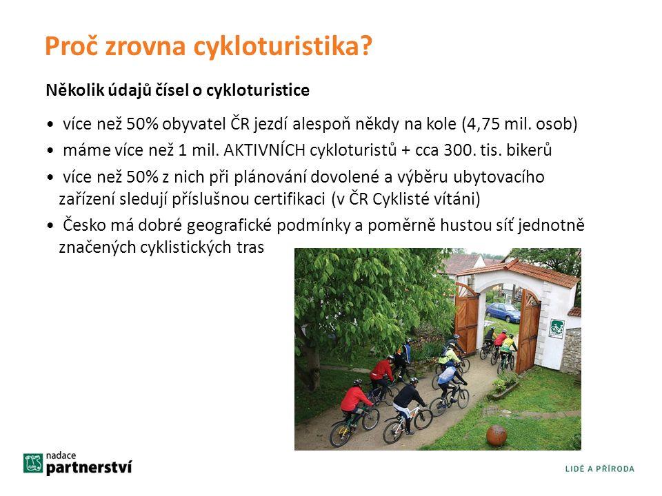 Několik údajů čísel o cykloturistice Proč zrovna cykloturistika.