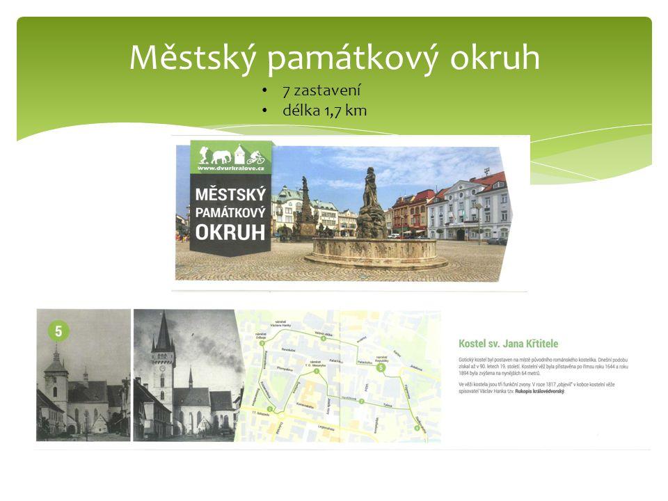 Městský památkový okruh 7 zastavení délka 1,7 km