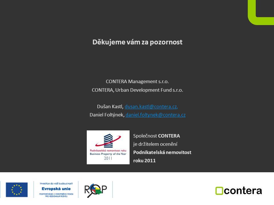 Děkujeme vám za pozornost CONTERA Management s.r.o.