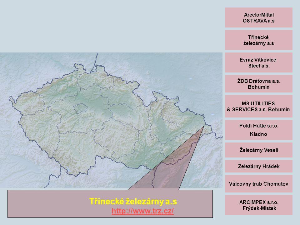 ArcelorMittal OSTRAVA a.s Třinecké železárny a.s Evraz Vítkovice Steel a.s.