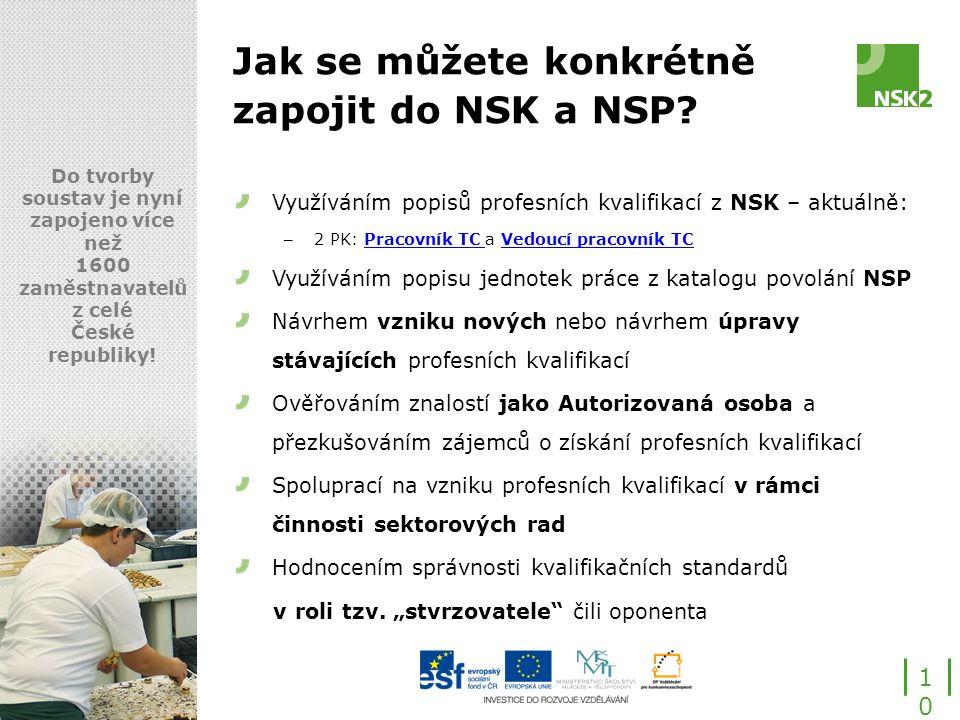 Jak se můžete konkrétně zapojit do NSK a NSP.
