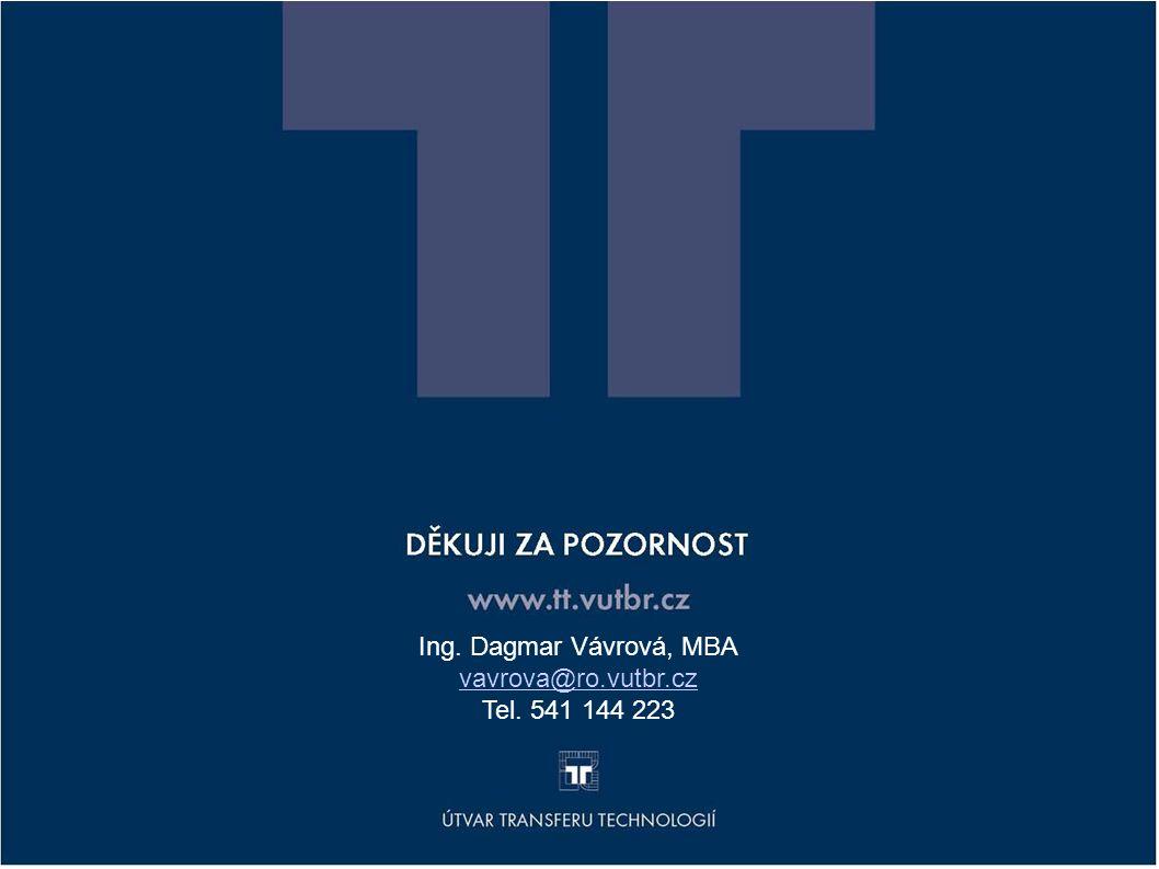 DEKUJEME ZA POZORNOST www.tt.vutbr.cz Ing. Dagmar Vávrová, MBA vavrova@ro.vutbr.cz Tel. 541 144 223