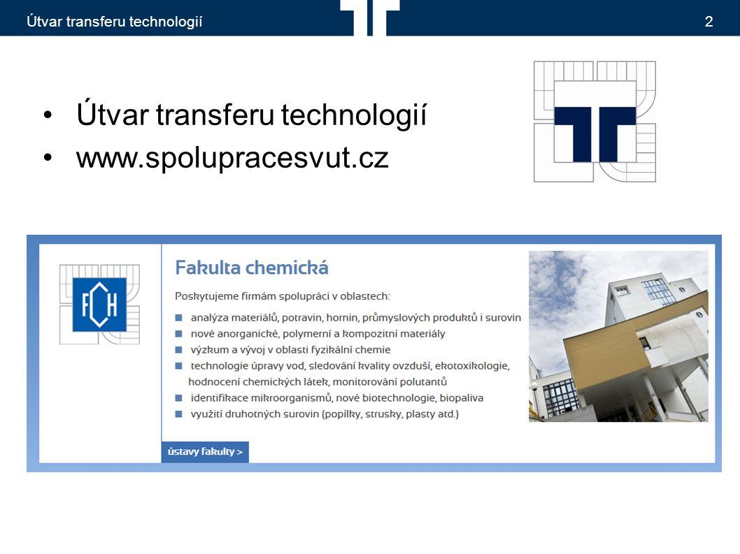 Útvar transferu technologií2 www.spolupracesvut.cz
