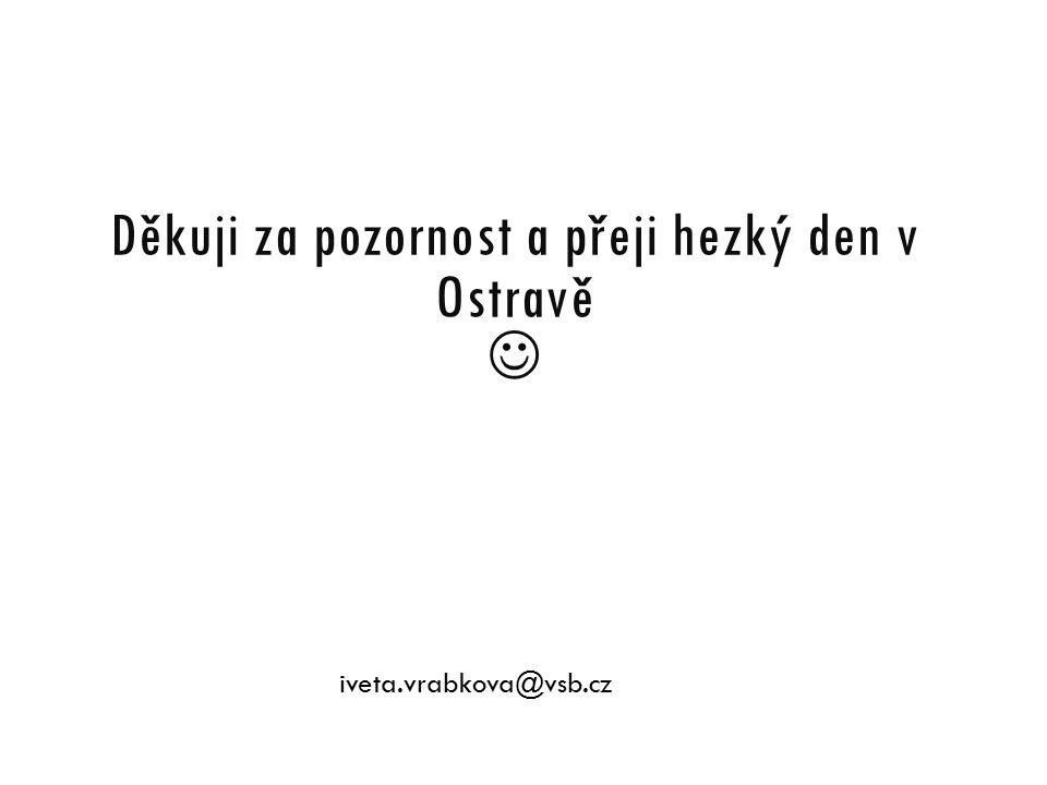 Děkuji za pozornost a přeji hezký den v Ostravě iveta.vrabkova@vsb.cz