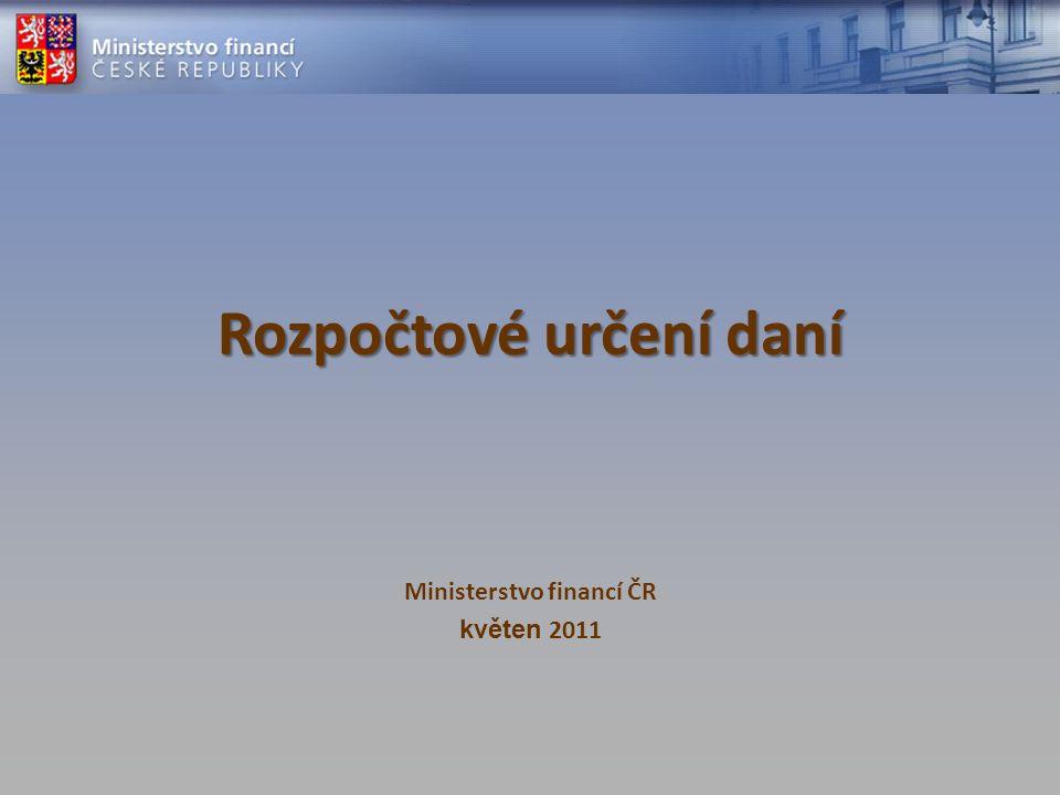 Rozpočtové určení daní Ministerstvo financí ČR květen 2011