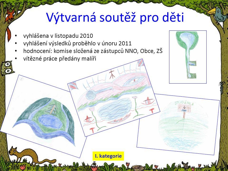 Výtvarná soutěž pro děti vyhlášena v listopadu 2010 vyhlášení výsledků proběhlo v únoru 2011 hodnocení: komise složená ze zástupců NNO, Obce, ZŠ vítězné práce předány malíři I.