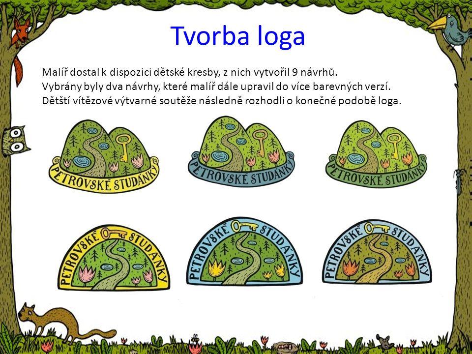 Tvorba loga Malíř dostal k dispozici dětské kresby, z nich vytvořil 9 návrhů.