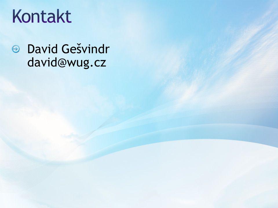 David Gešvindr david@wug.cz