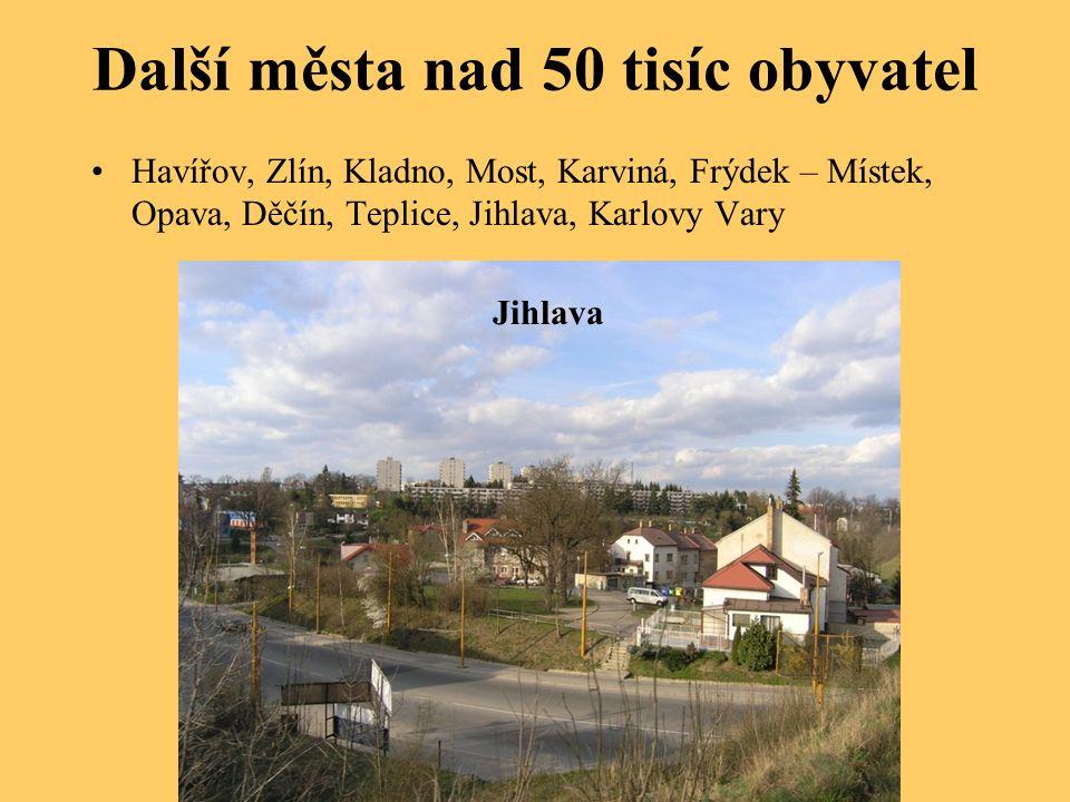 Města v ČR – samostatný úkol Tipujte, kde se v ČR nachází následující tucet měst: Český Krumlov