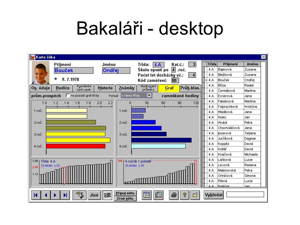 Bakaláři - desktop