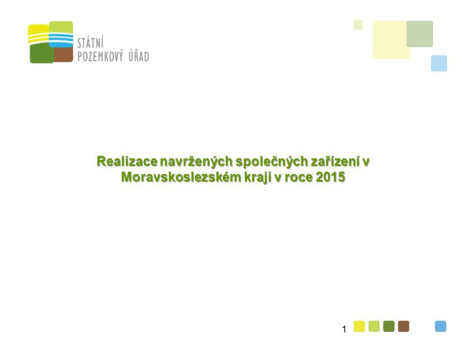 Realizace navržených společných zařízení v Moravskoslezském kraji v roce 2015 1