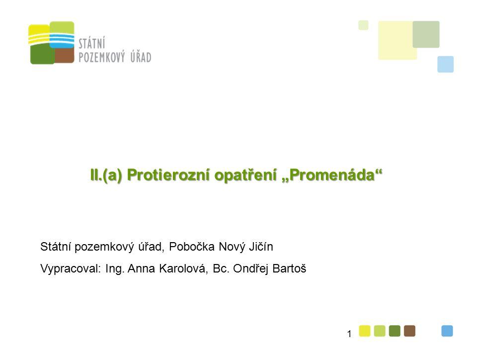 """8 II.(a) Protierozní opatření (""""Promenáda ) 1. Název projektu: SO 06 zasakovací pás """"Promenáda 2."""