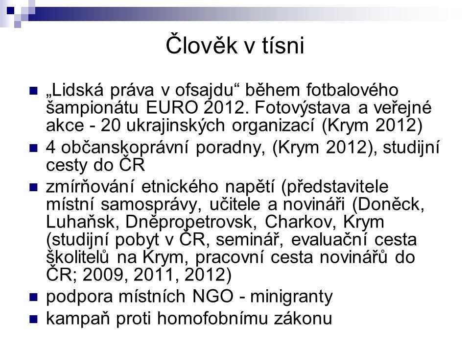 """Člověk v tísni """"Lidská práva v ofsajdu"""" během fotbalového šampionátu EURO 2012. Fotovýstava a veřejné akce - 20 ukrajinských organizací (Krym 2012) 4"""