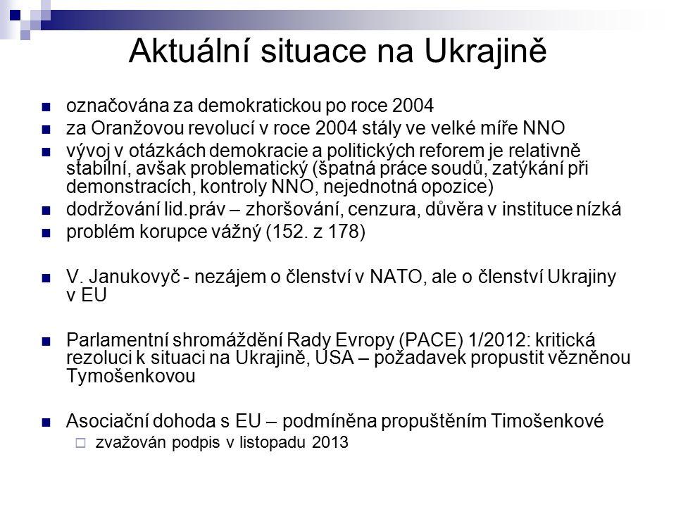 Aktuální situace na Ukrajině označována za demokratickou po roce 2004 za Oranžovou revolucí v roce 2004 stály ve velké míře NNO vývoj v otázkách demok
