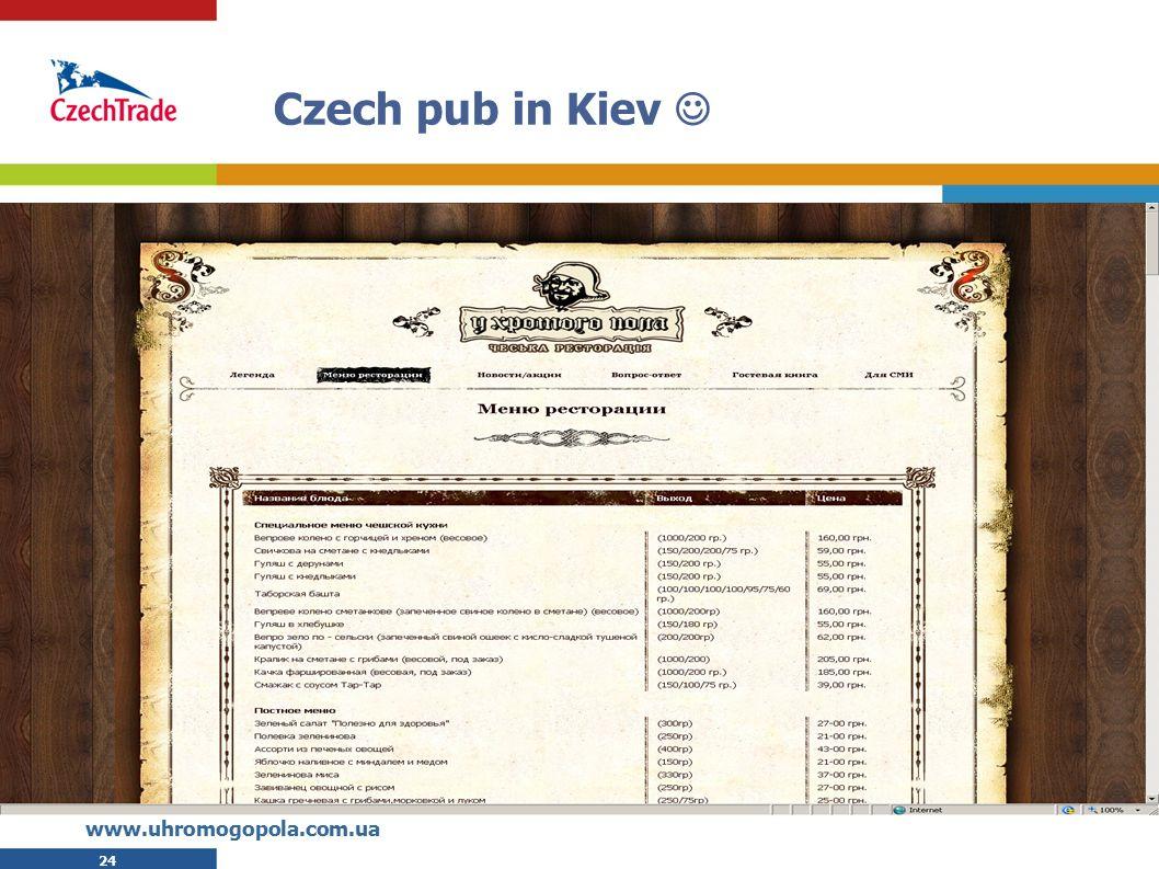 24 Czech pub in Kiev www.uhromogopola.com.ua