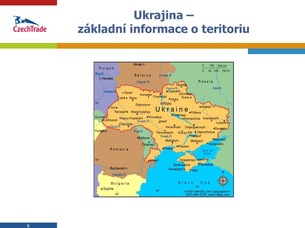 5 5 Ukrajina – základní informace o teritoriu