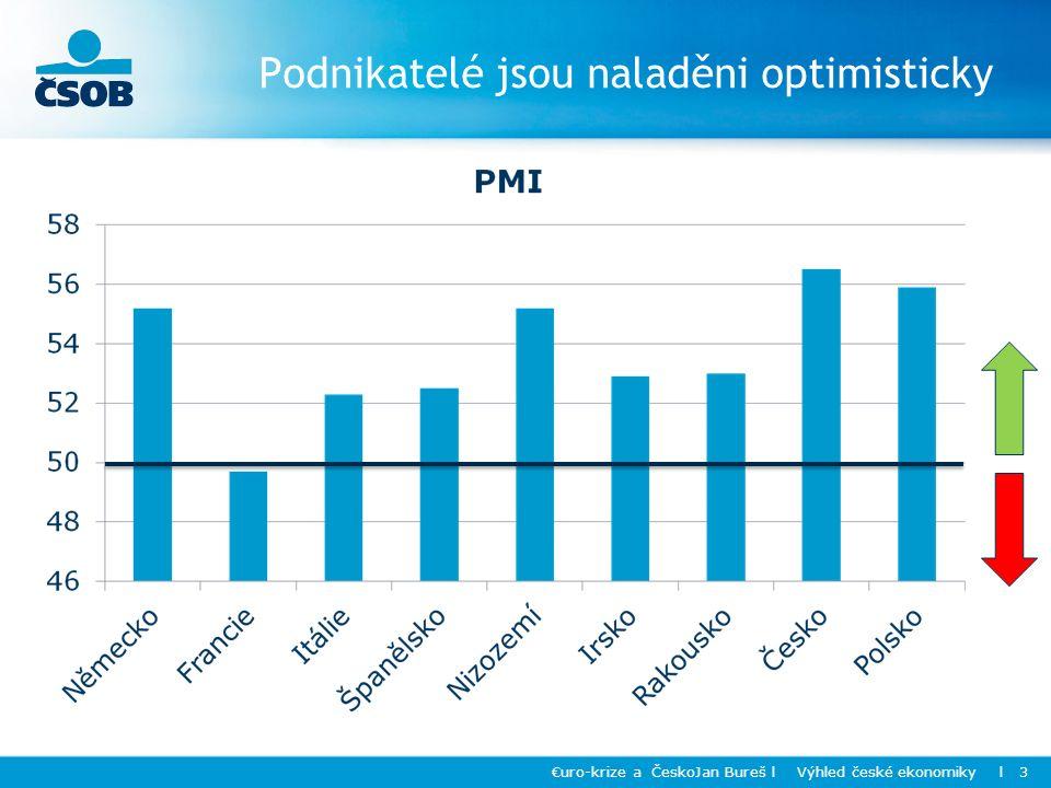 Podnikatelé jsou naladěni optimisticky €uro-krize a ČeskoJan Bureš l Výhled české ekonomiky l 3
