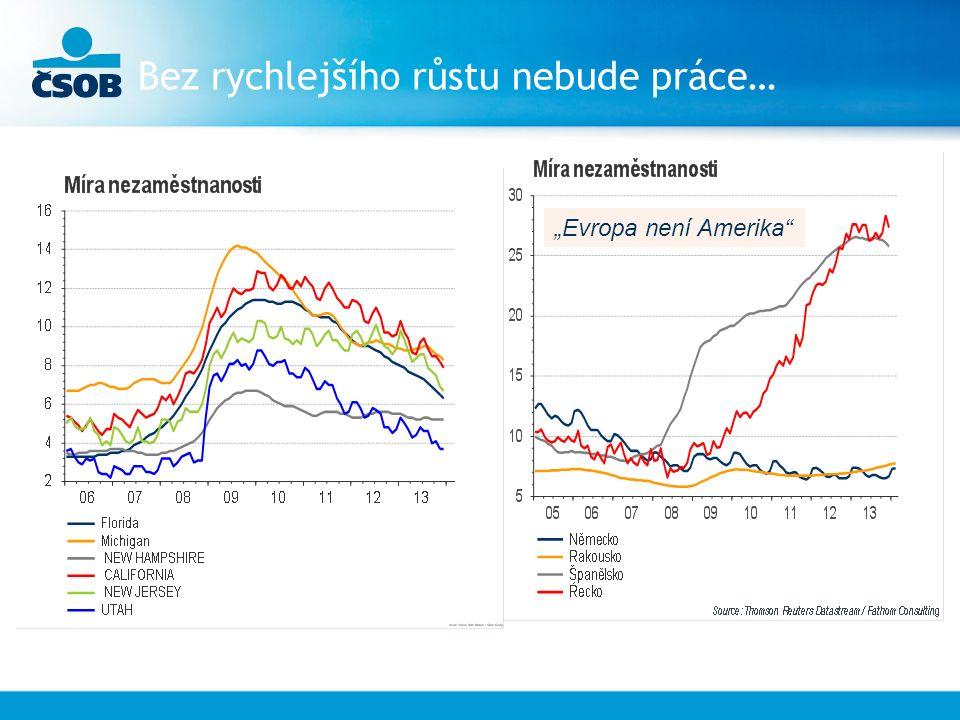 """Bez rychlejšího růstu nebude práce… """"Evropa není Amerika"""