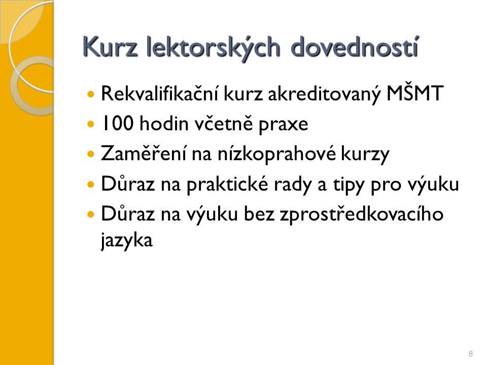 """Kurz """"Čeština pro cizince – metody práce s heterogenní skupinou Akreditace MŠMT v systému DVPP 16 hodin Pro pedagogy, kteří se chtějí naučit základům výuky češtiny jako cizího jazyka (odlišnosti oproti práci s dětmi, které mají češtinu jako mateřský jazyk) 9"""