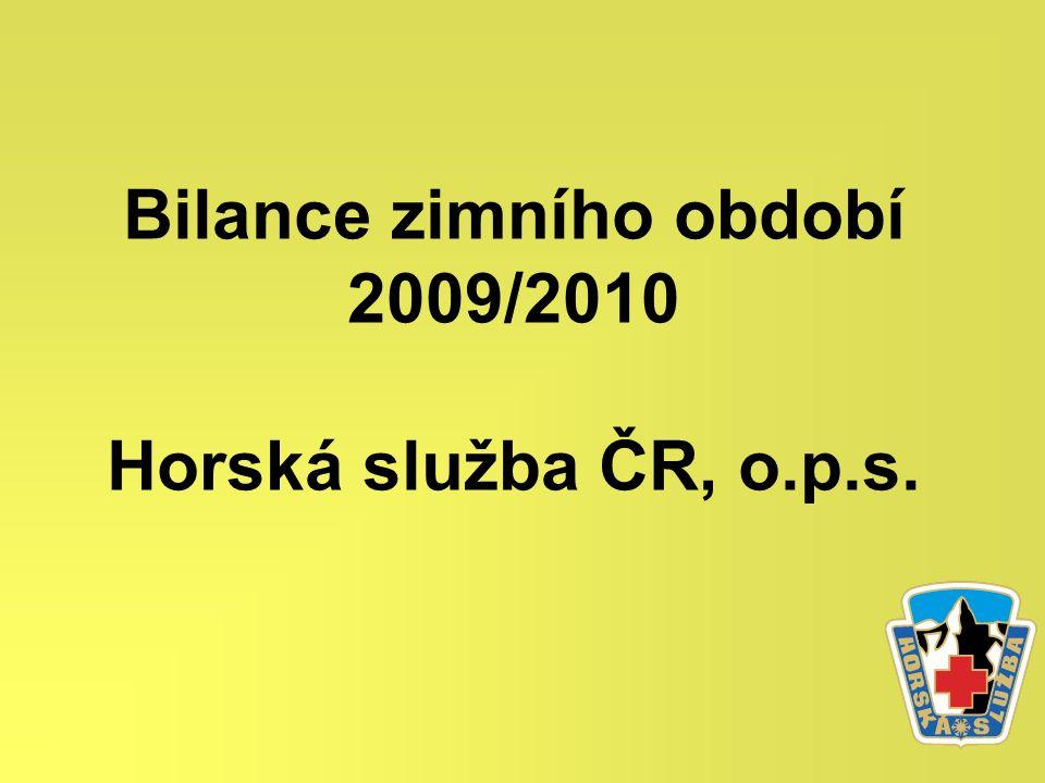 Bilance zimního období 2009/2010 Horská služba ČR, o.p.s.