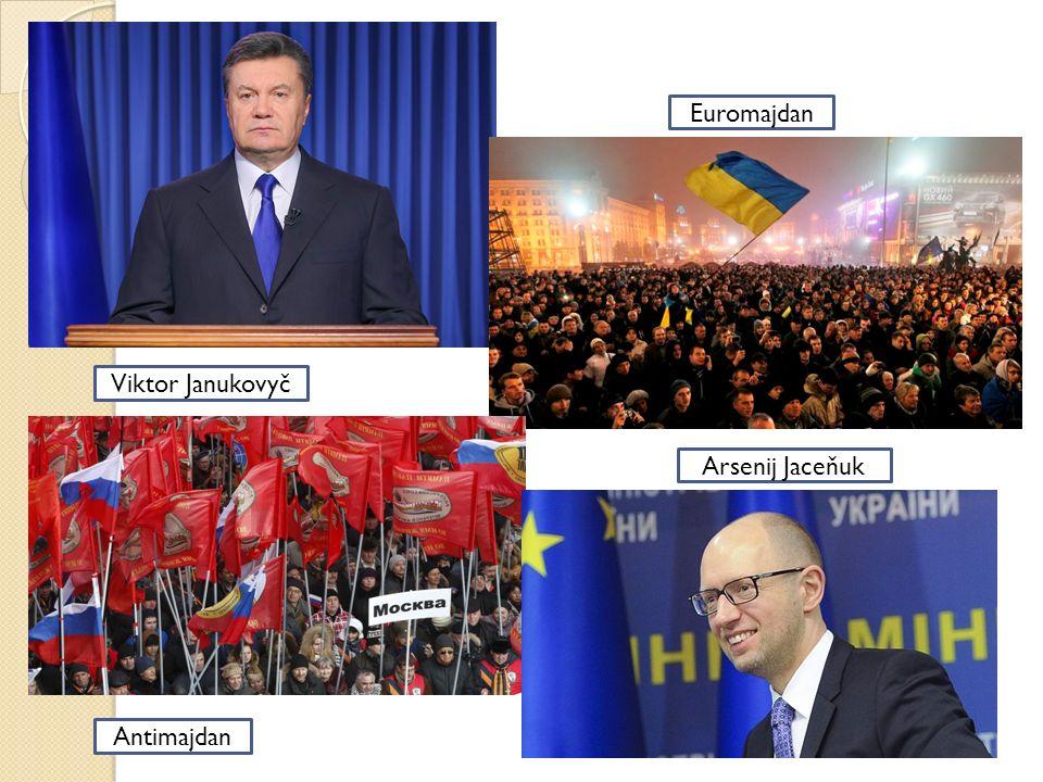 Viktor Janukovyč Euromajdan Antimajdan Arsenij Jaceňuk