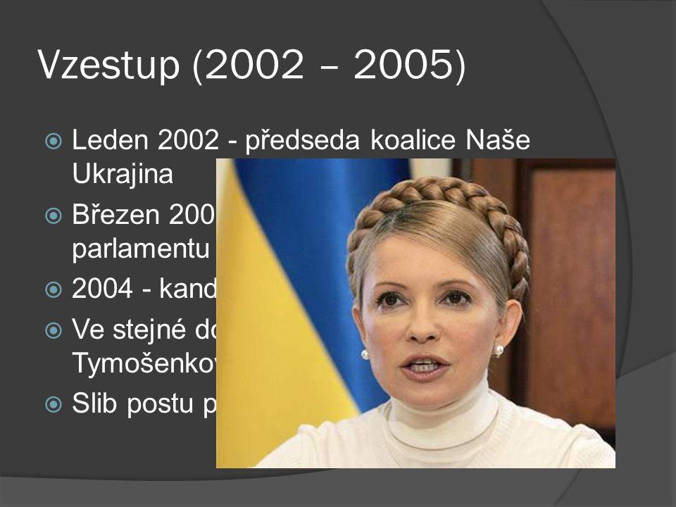 """Nemoc (2005)  2004 – Záhadná nemoc, hospitalizován v Rakousku  Oficiálně onemocněl """"herpetickou infekcí , ale podezření z otravy dioxiny  Otrava pravděpodobně ze strany protikandidáta Janukovyče  Od té doby zohyzděná tvář."""