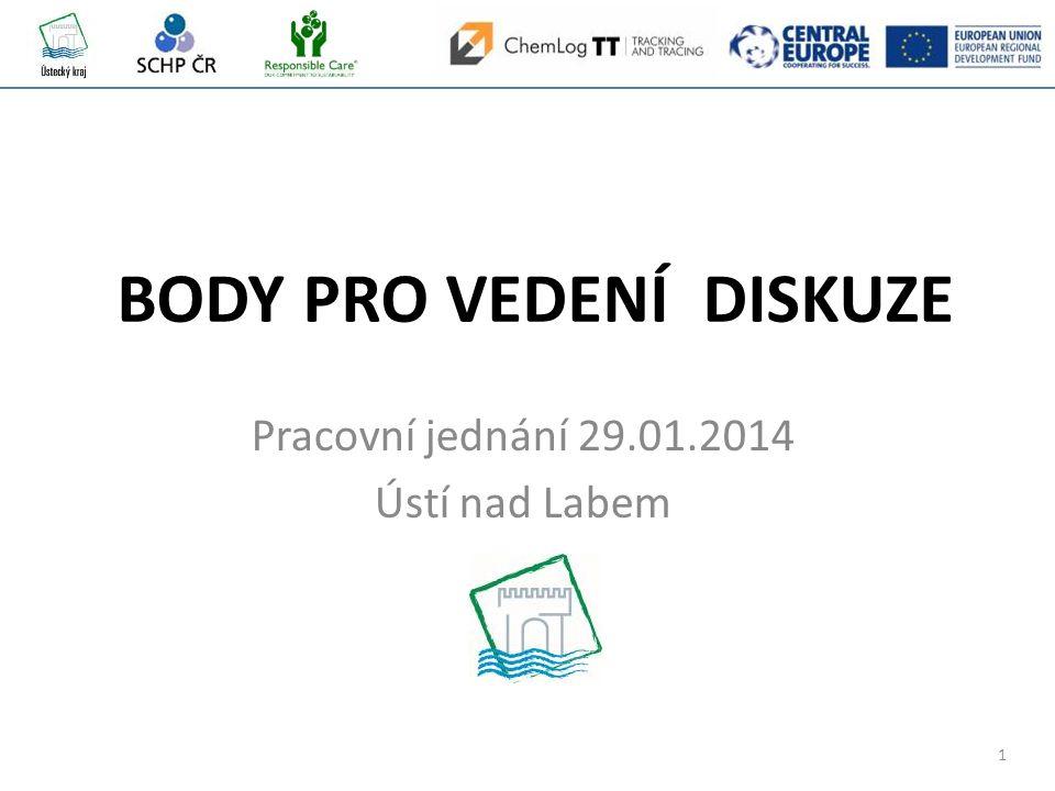 1 BODY PRO VEDENÍ DISKUZE Pracovní jednání 29.01.2014 Ústí nad Labem