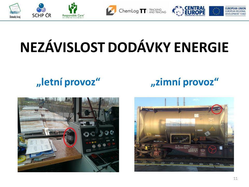 """11 NEZÁVISLOST DODÁVKY ENERGIE """"letní provoz """"zimní provoz"""