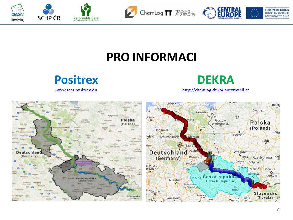 8 PRO INFORMACI Positrex www.test.positrex.eu DEKRA http://chemlog.dekra-automobil.cz