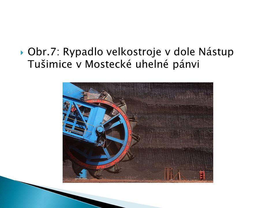  Obr.7: Rypadlo velkostroje v dole Nástup Tušimice v Mostecké uhelné pánvi