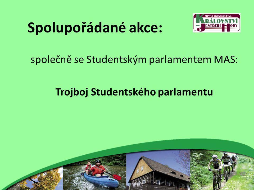 Spolupořádané akce: společně se Studentským parlamentem MAS: Trojboj Studentského parlamentu