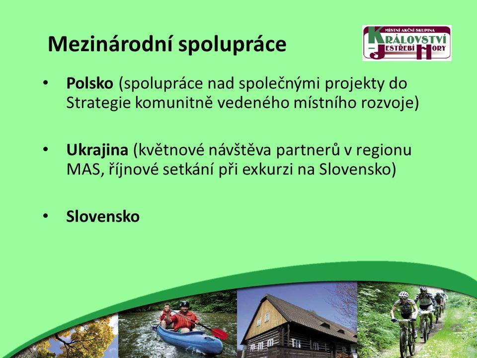Mezinárodní spolupráce Polsko (spolupráce nad společnými projekty do Strategie komunitně vedeného místního rozvoje) Ukrajina (květnové návštěva partnerů v regionu MAS, říjnové setkání při exkurzi na Slovensko) Slovensko